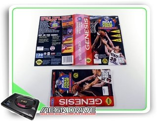 Encarte E Manual Ncaa Final Four Original Sega Mega Drive