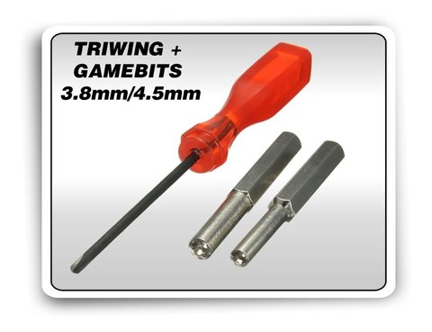 Kit Chaves Gamebit 3.8mm + 4.5mm + Triwing N64 Snes Switch