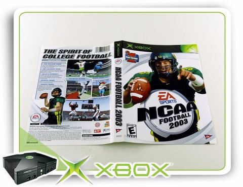 Encarte Ncaa Football 2003 Original Xbox Clássico