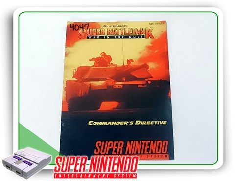 Manual Super Battletank Original Snes Super Nintendo