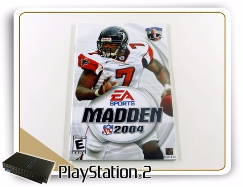 Encarte E Manual Madden Nfl 2004 Original Playstation 2 Ps2 na internet