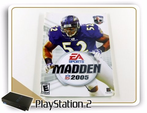 Encarte E Manual Madden Nfl 2005 Original Playstation 2 Ps2 na internet