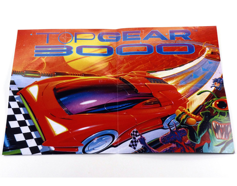 Imagem do Top Gear 3000 Super Nintendo Snes, Completo Novo