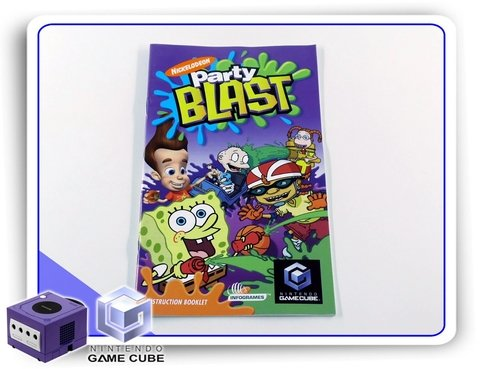 Manual Nickelodeon Party Blast Original Nintendo Gamecube