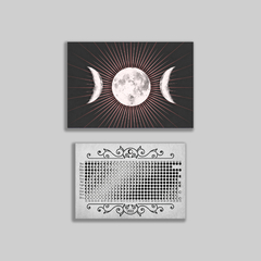 Kit Poster Fases Lunar, Bloco e Cards - A Quimera