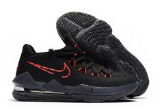 Tênis Nike LeBron 17 Low Black Red na internet