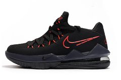 Tênis Nike LeBron 17 Low Black Red