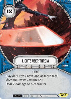 Lightsaber Throw / Arremesso de Sabre de Luz