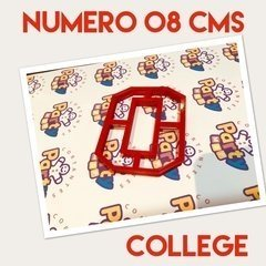 Cortante N° 0 College x 8 cm - Cortantes Party