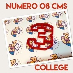 Cortante N° 3 College x 8 cm - Cortantes Party