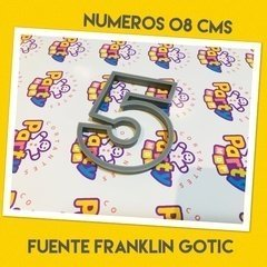 Cortante N° 5 Frankling x 8 cm - Cortantes Party