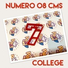 Cortante N° 7 College x 8 cm - Cortantes Party