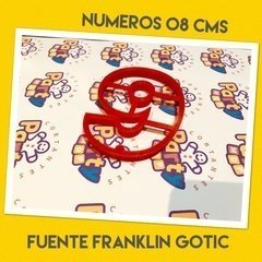 Cortante N° 9 Frankling x 8 cm - Cortantes Party