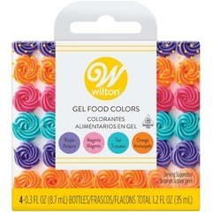 Colorantes En gel Colores Neon set x 4 - Wilton