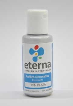 Acrilico Decorativo Eterna 50ml - 101  Plata
