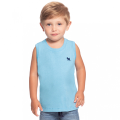 Regata Bordada Essentials Baby Collection - Azul - comprar online