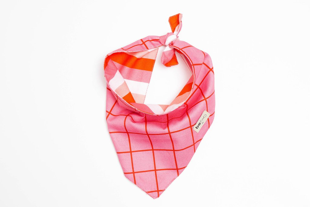 BANDANA WINDOWPANE ROSA - BeTwo
