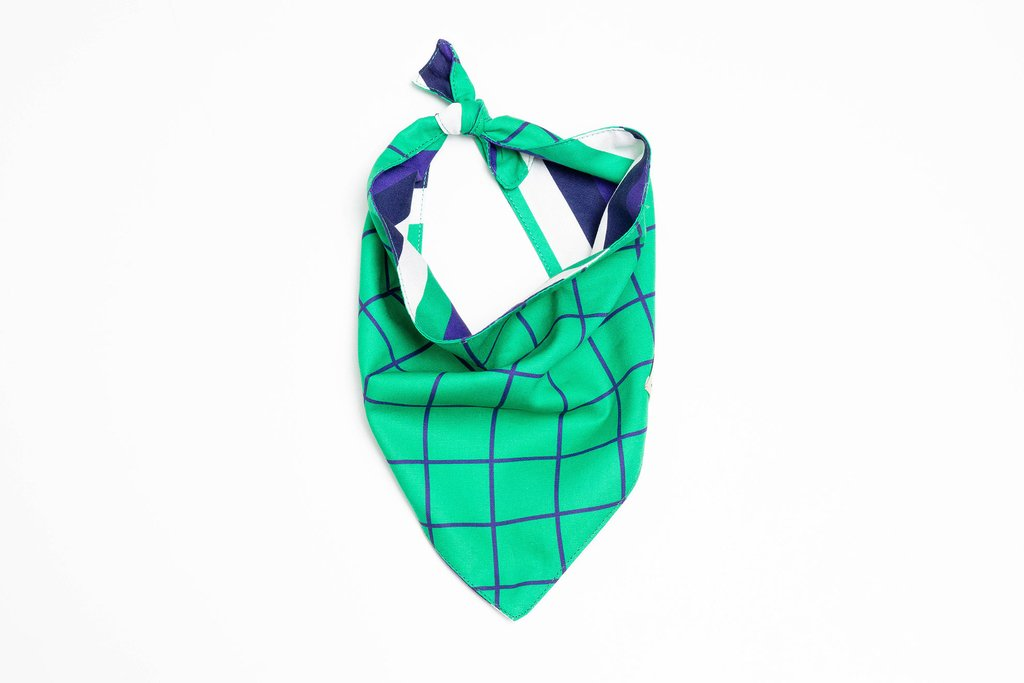 BANDANA WINDOWPANE VERDE - BeTwo