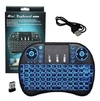 Mini Teclado sem Fio - .com LED - TVBOX - Xbox - Raspberry - Fliperama