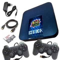 Video Game BigBox 12mil Jogos So Ligar Na Tv + 2 Controles modelo Playstation