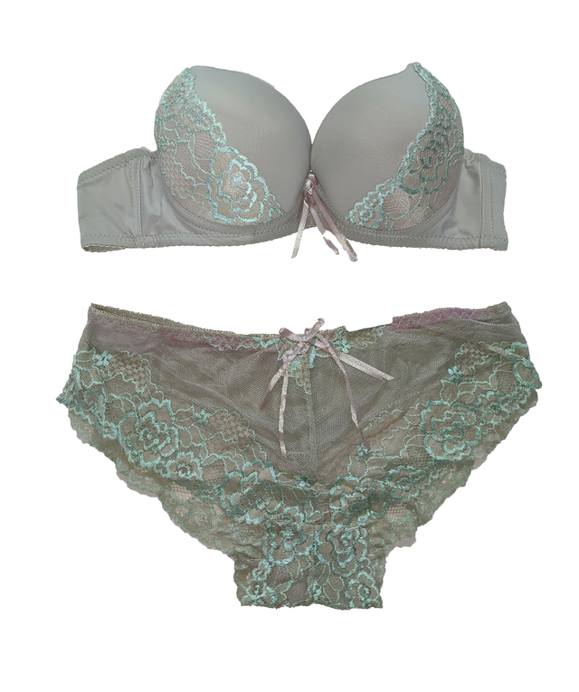 KIT COM 12 CONJUNTOS - LINGERIE RENDA PUSH UP - loja online