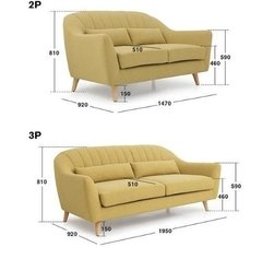 Sofa Green -vintage Tela -importado -2 Cuerpos - Furnitech - FURNITECH