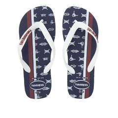 Chinelo Havaianas 10/2019 Top Nautical Mho/bco/verm