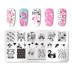 Placa Nicole Diary Tropical Collection ND - 005
