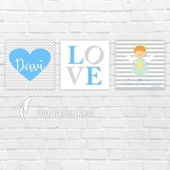 Placas Decorativas MDF - Anjinho Love Nome