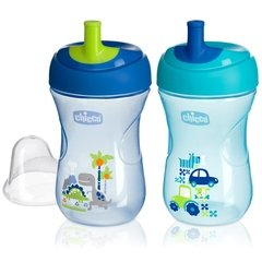 CHICCO VASO ADVANCED CUP  AZUL 12M+