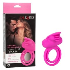 Silicone Rechargeable Dual Clit Flicker