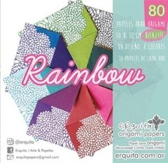 BLOCK RAINBOW estampados 10x10cm, simple faz. Erquita.