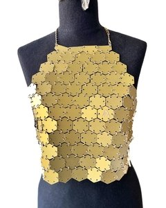 "Top ""Hexagonal Up"" Golden - REVERSIBLE - comprar online"