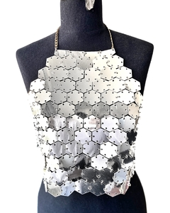 "Top ""Hexagonal Up"" Golden - REVERSIBLE en internet"