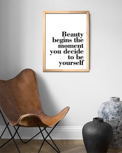 Cuadro Beauty Quote