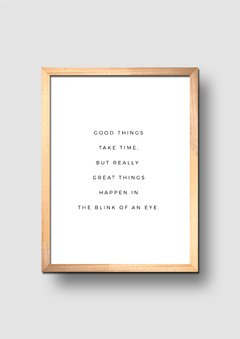 Cuadro Good Things Quote - comprar online