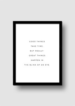 Cuadro Good Things Quote en internet
