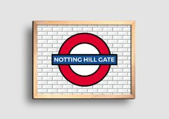 Cuadro Cartel Londres Underground Notthing Hill Gate - comprar online