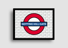 Cuadro Cartel Londres Underground Notthing Hill Gate en internet