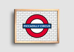 Cuadro Cartel Londres Underground Piccadilly Circus - comprar online