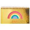 Agenda 2021 Mooving Pocket Espiralada Golden Rainbow Arcoiris Dorado