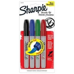 Marcadores Sharpie Punta Pincel X4 Ideal Para Lettering