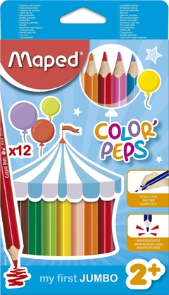 Lápices de color Maped Jumbo x12