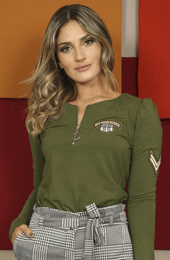 BLUSA PATCHES MILITAR