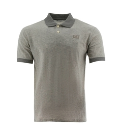 REMERA CAT CLASSIC LOGO POLO GRIS