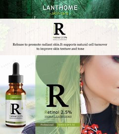 Imagem do Sérum Retinol 2,5% Lanthome® Vitaminas A C E - Extratos Originais