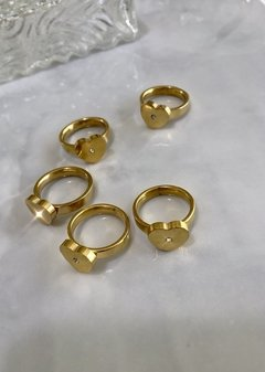 Gold Ring Love Strass