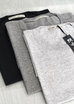 Pack x 3 Oversized Corta | Gris Oscuro, gris claro y negro