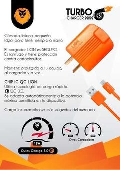 Cargador Carga Rapida Qualcomm Quick Charge 3.0 Micro Usb en internet