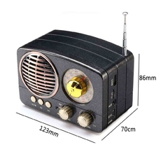 Radio Portatil Vintage Am Fm Retro Bluetooth Aux Usb Tf en internet